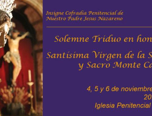 Triduo a la Stma. Virgen de la Soledad